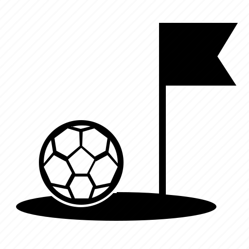 Ball, border, field, flag, football, game, soccer icon - Download on Iconfinder