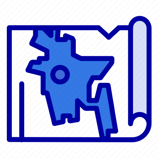 Bangla, bangladesh, map, world icon - Download on Iconfinder