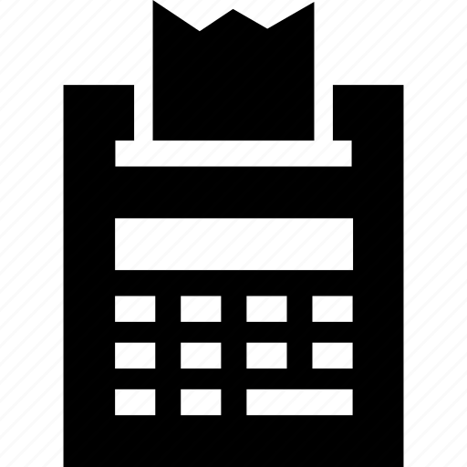 calculator, printer, printing, receipt, roller icon