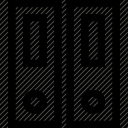 aktenordners, binders, dossiers, office icon