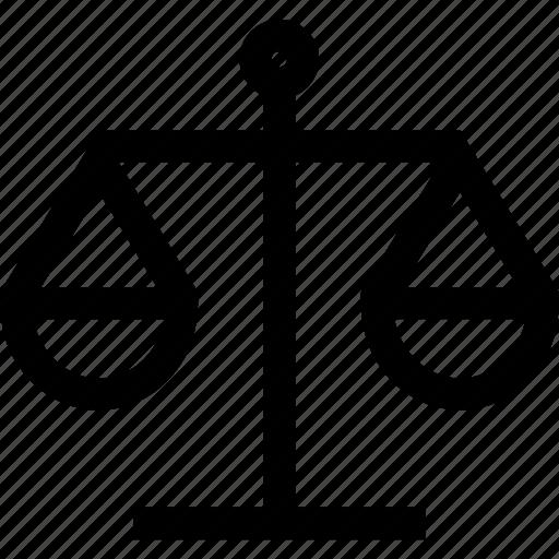 balance, justice, libra, scale icon