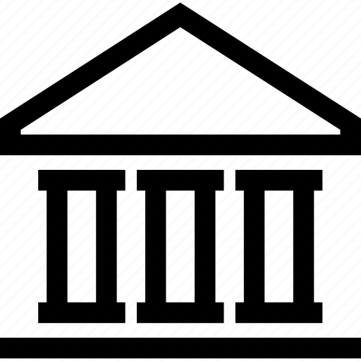 bank, building, government, pantheon icon