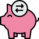 bank, banking, business, exchange, finance, piggy icon