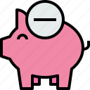 bank, banking, business, finance, piggy, remove icon