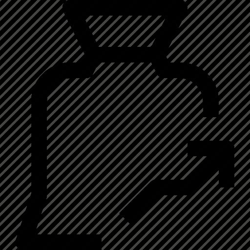 arrow, bag, bank, business, finance, financial, money, up icon