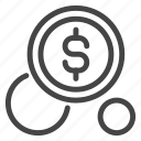 cent, coin, currency, dollar, finance, financial, money icon