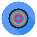 aim, bullseye, effectiveness, goal, target icon