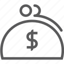 bank, coin, wallet icon