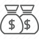bank, moneybag icon