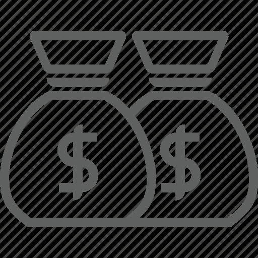 bank, moneybag icon