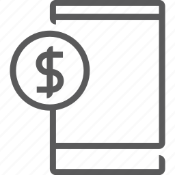 bank, banking, phone icon