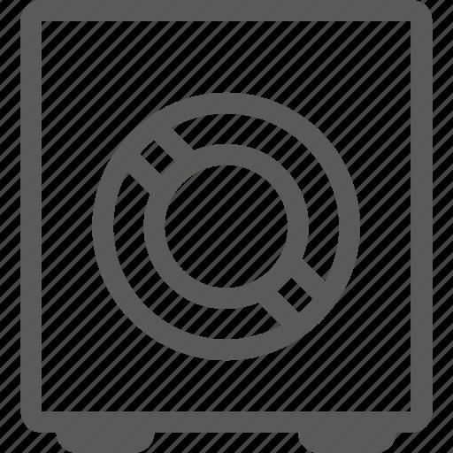 bank, safe icon