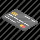bank, cartoon, card, isometric, business, globe, hand icon
