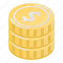 grunge, stack, cartoon, isometric, gold, coins, business icon