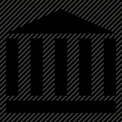 bank, banking, capitalism, finance, institution, money, university icon