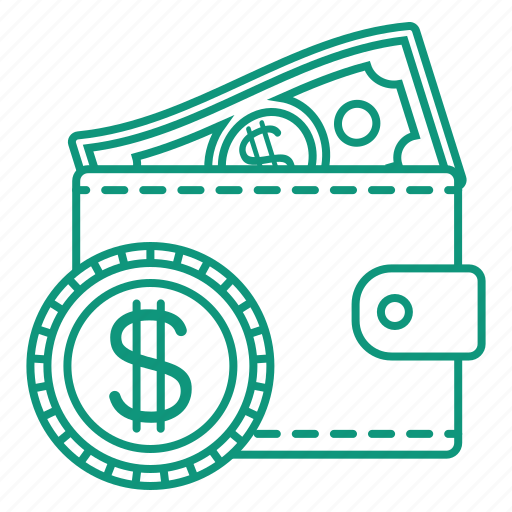 currency, money, purse, wallet icon