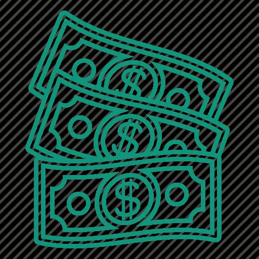 banknot, cash, dollar, money icon