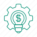 adjustment, currency, dollar, idea, money, settings icon