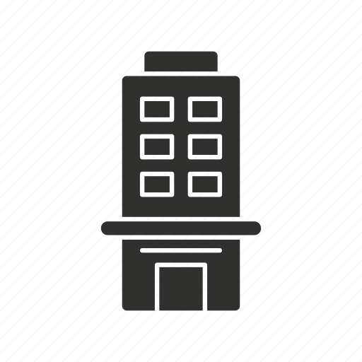 bank, finance company, financial institution, tall buidling icon