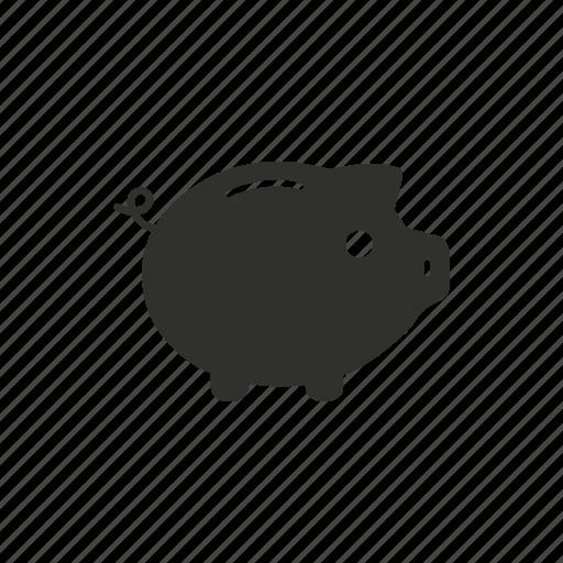 bank, coin bank, money, piggy bank icon