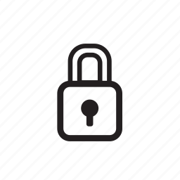 communication, crisp, line, lock, password, perfect, private, protection, safe, security, shape, sign, unlock icon
