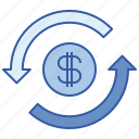 banking, cash, exchange, financial icon