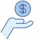 banking, cash, money, request icon