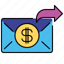 financial, money, send, transfers icon