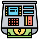 cash, money, bank, atm, machine icon