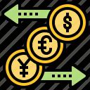 currency, exchange, international, money, service