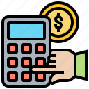 accounting, balance, calculation, financial, money icon