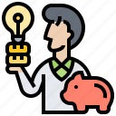 business, income, investor, profit, saving icon