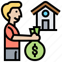asset, loan, money, mortgage, property icon
