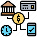 option, service, credit, mobile, payment icon
