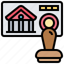 approved, check, confirmed, loan, stamp icon