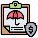 benefits, compensation, insurance, plan, protection icon