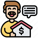finance, loan, money, mortgage, property icon