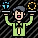 customer, premium, privilege, service, upgrade icon