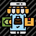 shop, smartphone, app, online, mobile