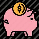 piggy, money, save, coin, bank