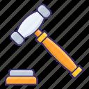 auction, gavel, hammer, law