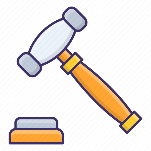 Auction, gavel, hammer, law icon - Download on Iconfinder