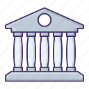 bank, building, currency, money icon