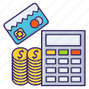 accounting, banking, calculation, financial icon
