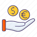 currency, funding, investment, money icon