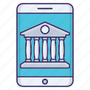 banking, business, device, mobile icon
