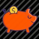 bank, banking, piggy, savings