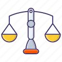 balance, law, scales, weight icon