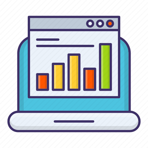 analysis, chart, online, report, statistic icon