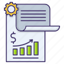 banking, financial, paper, report icon